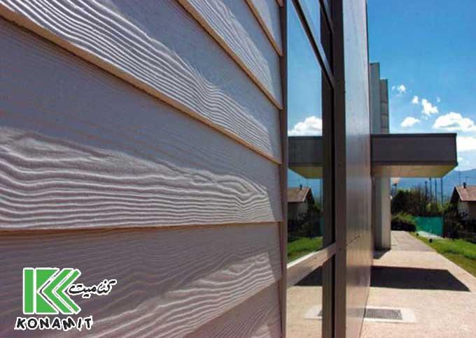 فایبر سمنت متریالی شیک در نمای ساختمان