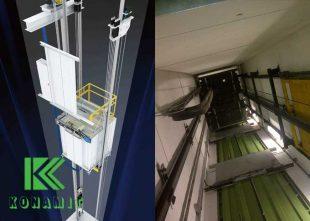 نصب فایبر سمنت دور چاهک آسانسور