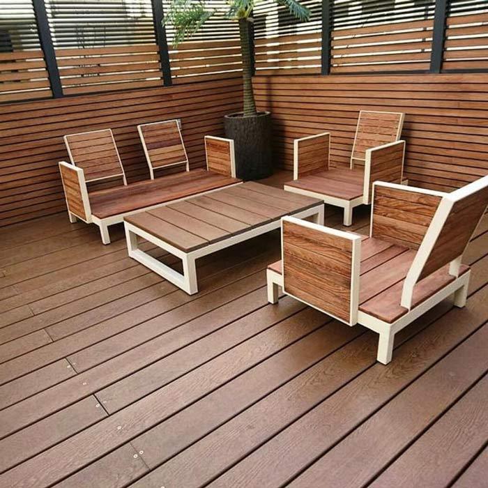 کف سازی چوبی با فایبرسمنت طرح چوب