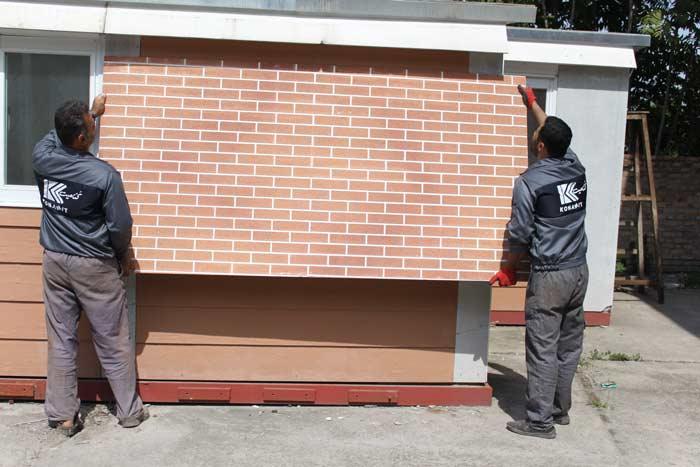 دیوار پیش ساخته آجری