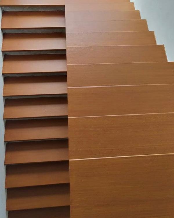 ساخت پله چوبی با فایبرسمنت کنامیت